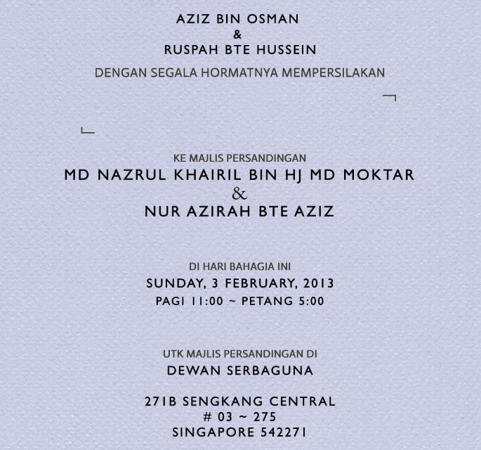 Malay wedding invitation guitarreviews wedding invitation for khairil azirah poopler invitations stopboris Choice Image